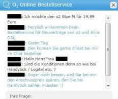 o2-Bestell-Chat