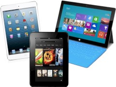 iPad mini, Kindle Fire HD und Surface