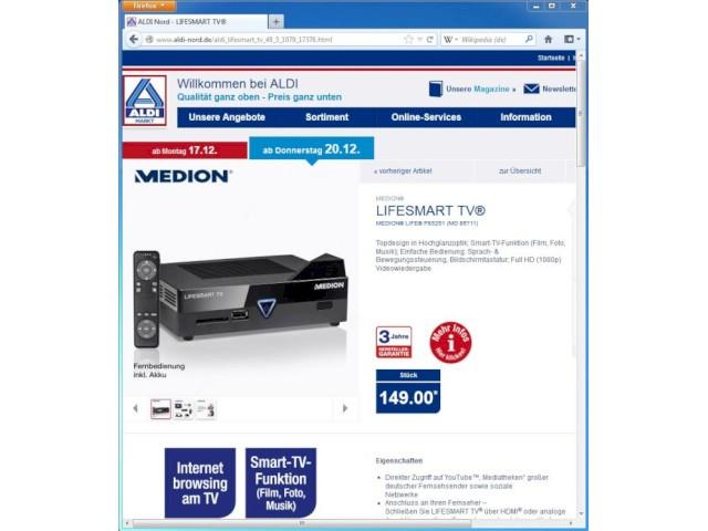 Medion Lifesmart Tv Mit Android Bei Aldi Nord Im Angebot Teltarif