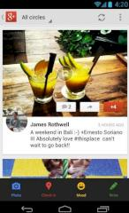 Google-Plus-Newsfeed für Android.