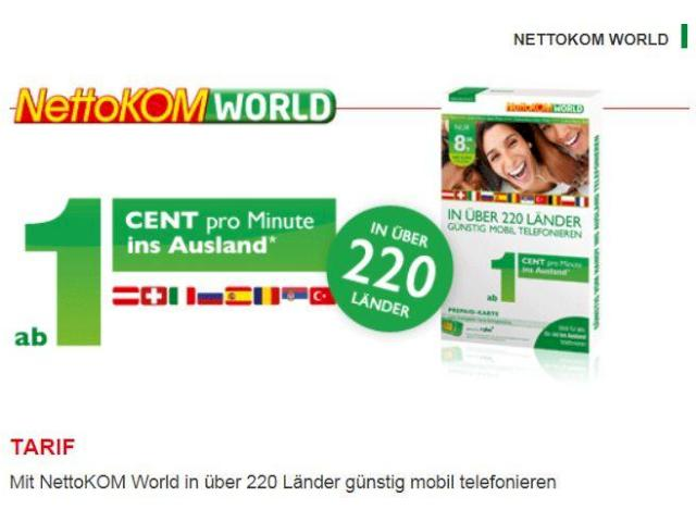 nettokom world: tarif für auslandsgespräche mit allnet-option