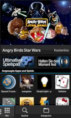 Startseite der Blackberry World
