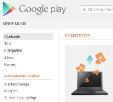 Google Music kommt als Streaming Dienst