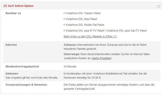 Vodafone Dsl Surf Sofort Paket Anbieter Entschärft Kostenfalle