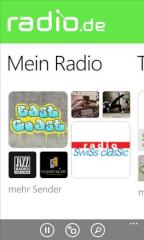 radio.de startet auf Windows Phone 8
