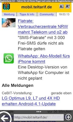 Konkurrenz Für Internet Explorer Browser Für Windows Phone