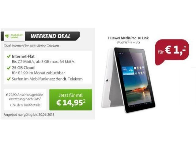 Aktion: 3 GB im Telekom-Netz & Tablet für 14,95 Euro monatlich