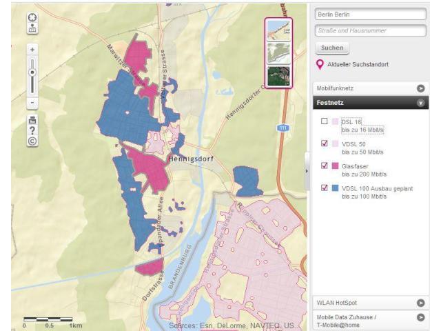 Telekom Glasfaserausbau Karte.Telekom Integriert Vdsl 100 Gebiete In Verfügbarkeitsabfrage