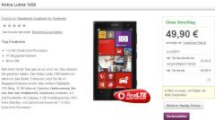 Screenshot Vodafone-Website