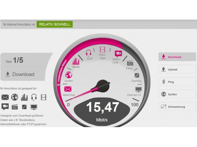 Ausprobiert: So funktioniert der neue T-Online Speedtest