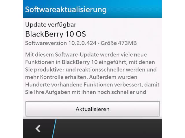 Blackberry 10 2: Software-Update für Z10, Q10 und Q5