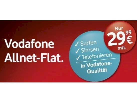 Vodafone Allnet Flatrate Für 2999 Euro Dauerhaft Verfügbar