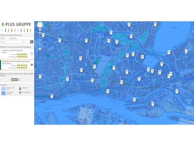 Eplus Netzabdeckung Karte.E Plus Zeigt Netzabdeckung Und Sendemasten Auf Neuer Karte