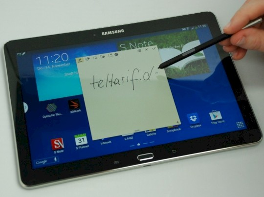 Tablet mit Stift: Samsung Galaxy Note 10 1 2014 Edition im