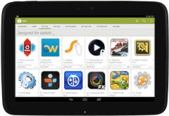 Google Play designed for tablets