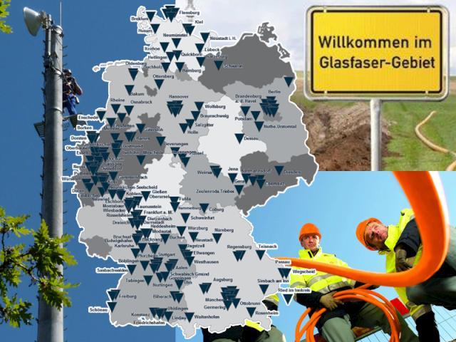 glasfaserausbau deutschland karte Schnelles Interfür Stadt & Land: Hier erfolgt der Ausbau von