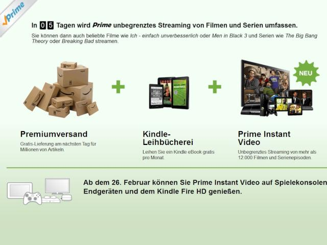 amazon prime erlaubt k nftig unbegrenztes streaming von filmen und serien news. Black Bedroom Furniture Sets. Home Design Ideas