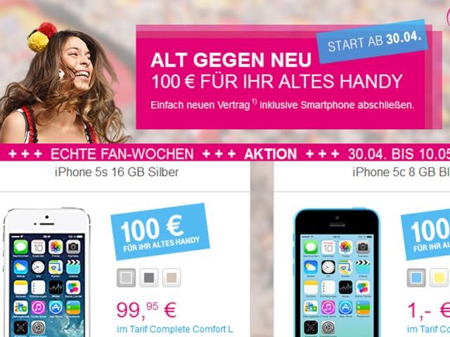 Telekom Mit Alt Gegen Neu Aktion 100 Euro Fürs Alte Handy Oder