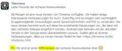 Threema arbeitet an einer App-Version für Windows Phone 8
