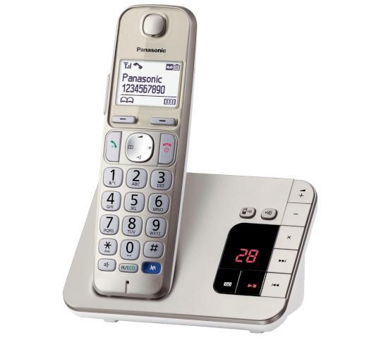 festnetztelefon mit sim karte Panasonic: Festnetztelefon KX TGE220 mit besonders großen Tasten