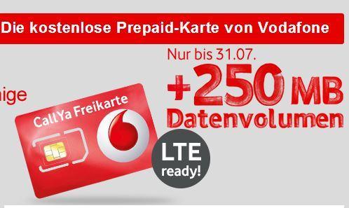 Vodafone Prepaid Karte Kostenlos.Callya Prepaidkarte Kostenlos Mit Lte Und Extra Datenvolumen