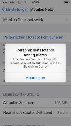 iOS8 könnte Einschränkungen für Tethering bei iPhone und iPad
