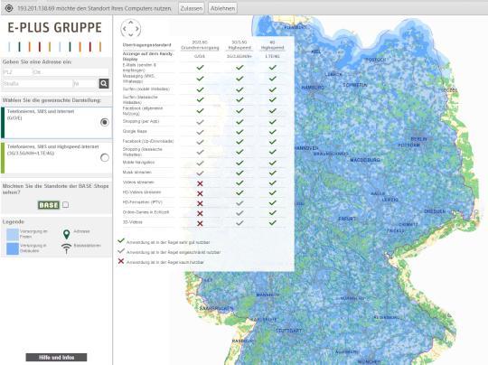 Eplus Netzabdeckung Karte.übersicht Wo Ist Die Netzabdeckung Bei Welchem Netzbetreiber Gut