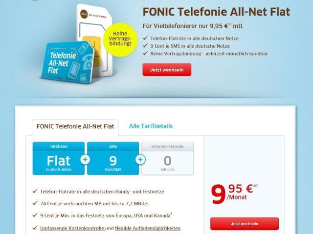 fonic bietet telefonie allnet flat im o2 netz f r 9 95 euro im monat news. Black Bedroom Furniture Sets. Home Design Ideas