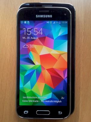 Samsung Galaxy S5 Mini Sim Karte.Samsung Galaxy S5 Mini Und Galaxy S5 Im Foto Vergleich Teltarif De