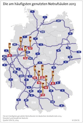 Karte Deutsche Autobahnen Goudenelftal