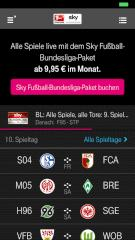 Sky Bundesliga im Mobile-TV