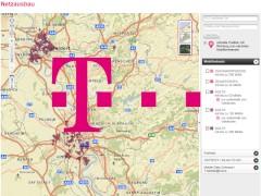 Netzausbau Telekom Karte