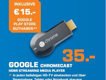 chromecast bei saturn mit 15 euro guthaben f r den google play store news. Black Bedroom Furniture Sets. Home Design Ideas