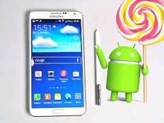Samsung Galaxy Note 3 mit Android-Lollipop-Logo