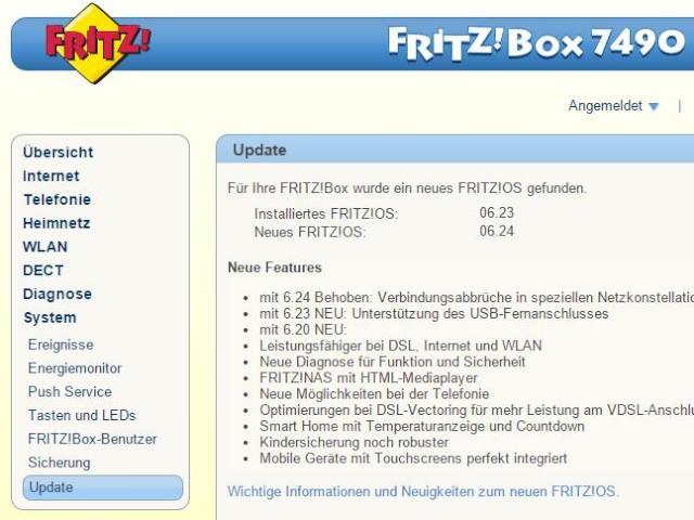 fritz box 7490 verbindungsprobleme mit bugfix update behoben news. Black Bedroom Furniture Sets. Home Design Ideas