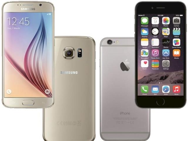 vergleich galaxy s6 edge iphone 6