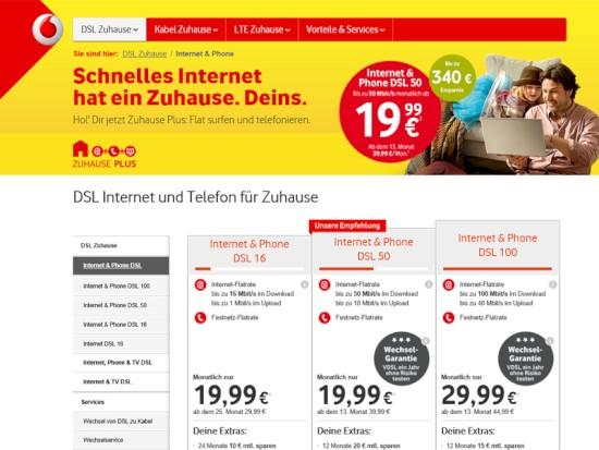 Vodafone Call Now Tarife