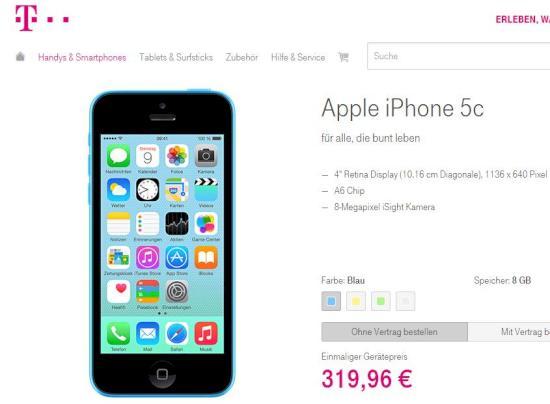 Apple Iphone Bei Der Telekom Ohne Vertrag Für 320 Euro Teltarifde