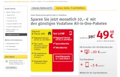 Vodafone All-in-One bei KDG