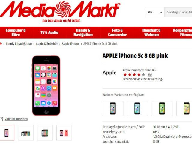 iphone bei media markt ohne vertrag f r unter 300 euro. Black Bedroom Furniture Sets. Home Design Ideas