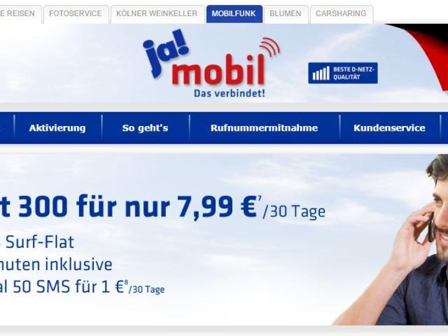 ja mobile online aufladen