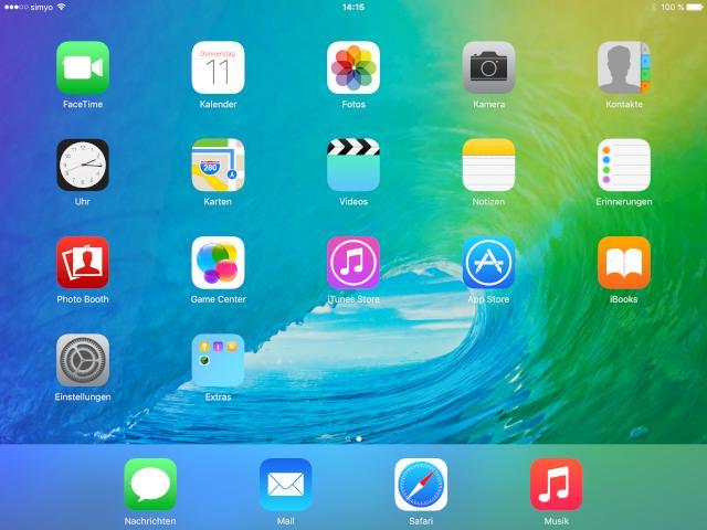 Ios 9 die neue software auf dem ipad air 2 news for Best home screen wallpaper for ipad