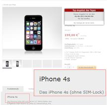 iphone 4s ohne sim lock f r 199 euro bei tchibo teltarif. Black Bedroom Furniture Sets. Home Design Ideas