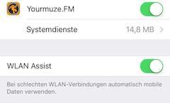 Neue WLAN-Assist-Funktion