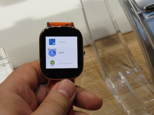 Alarmfunktion der Zenwatch 2