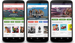 Neues Design im Google Play Store