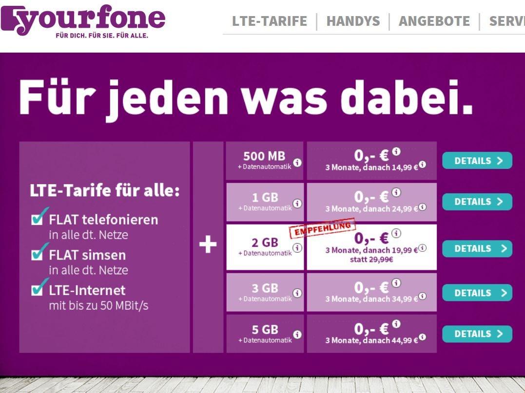 Yourfone Online Andere Preise Als In Den Shops Teltarifde News