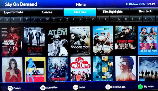Sky On Demand Filme �Bersicht