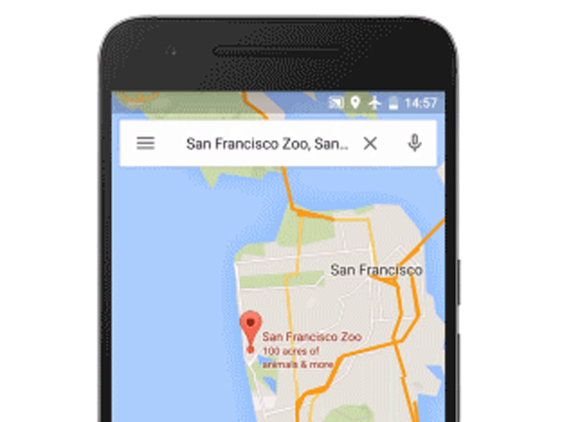 Google Navigation Offline Maps on