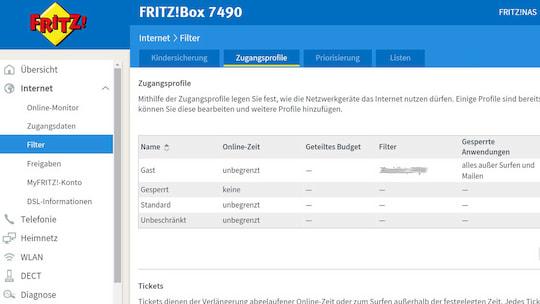 Avm Fritz Os 6 50 Vergabe Eines Surf Tickets Ausprobiert Teltarif